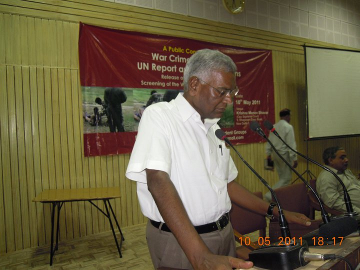 SUMMMARY OF CONVENTION ON UN REPORT ON SRI LANKA - New Delhi