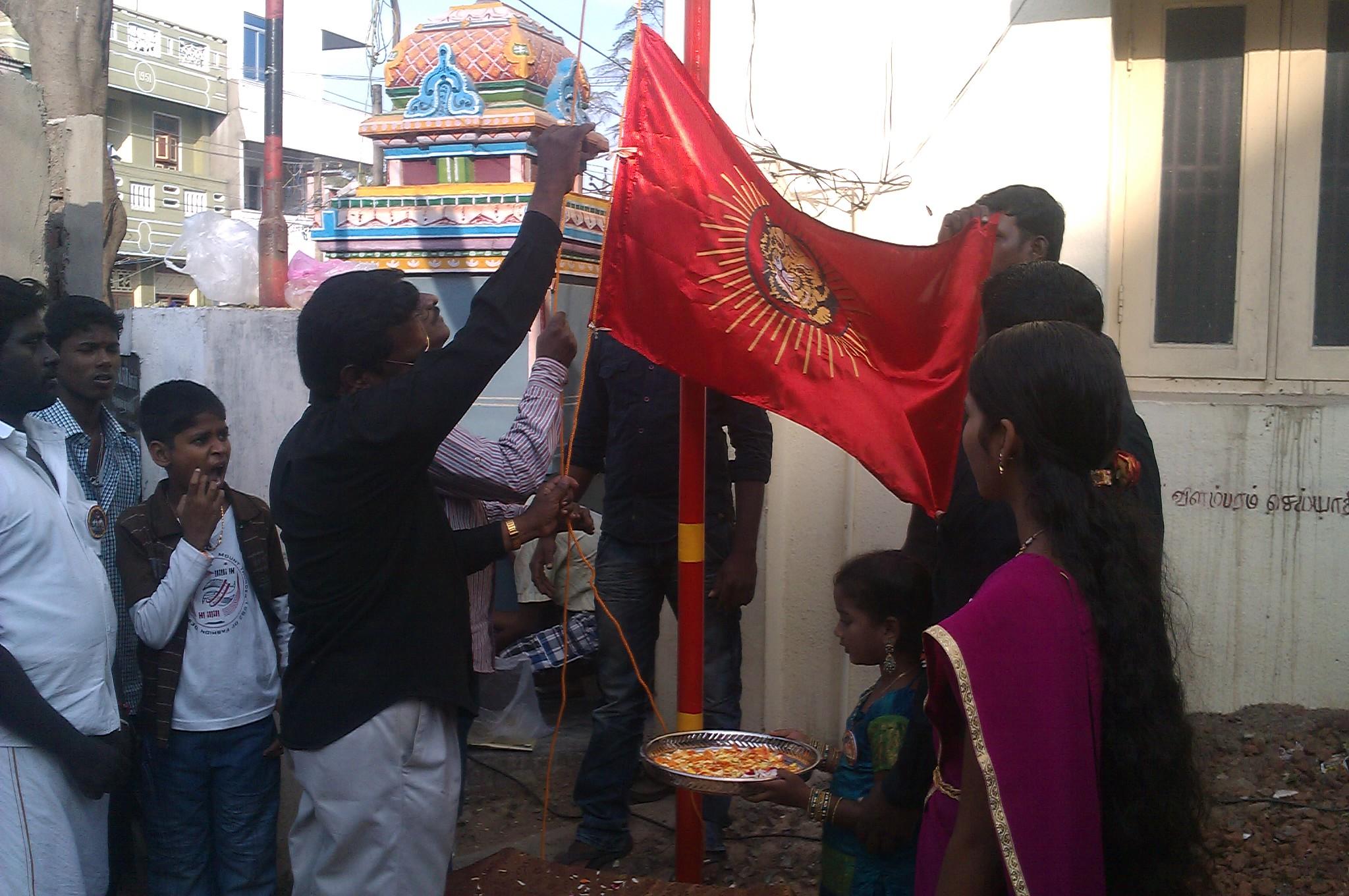 காஞ்சிபுரம் மேற்கு மாவட்டம், குன்றத்தூர் ஒன்றிய கொடியேற்ற நிகழ்வு