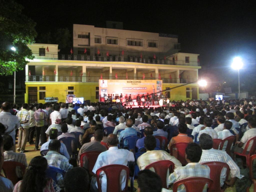 பெங்களூரில் சீராமபுரம் பகுதியில்  மாபெரும் பொதுக்கூட்டம் நடை பெற்றது