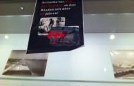 யேர்மனி சிறீலங்கா அரசின் தூதரகத்தின் கண்காட்சியில் ஈழத்தமிழர்களின் இன அழிப்பை அம்பலப்படுத்திய சுவரொட்டிகள்