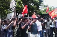 இனப்  படுகொளையாளன் ராஜபக்சே இந்திய வருகையை கண்டித்து கோவை மாவட்டம் சார்பாக நடைபெற்ற ஆர்ப்பாட்டம்