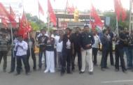 இனப்படுகொலையாளன் ராசபக்சே வருகையை கண்டித்து தஞ்சை மாவட்டத்தில் ஆர்ப்பாட்டம்