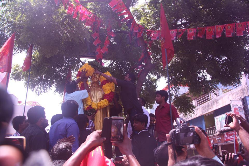 காமராஜர் சிலைக்கு செந்தமிழன் சீமான் மாலை அணிவித்தல் கொளத்தூர் 2-10-2015