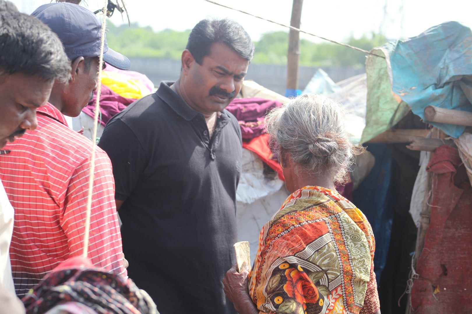 தொடர்ந்து பத்தாவது நாளாக நிவாரணப் பணியில் சீமான் - இராயபுரம்