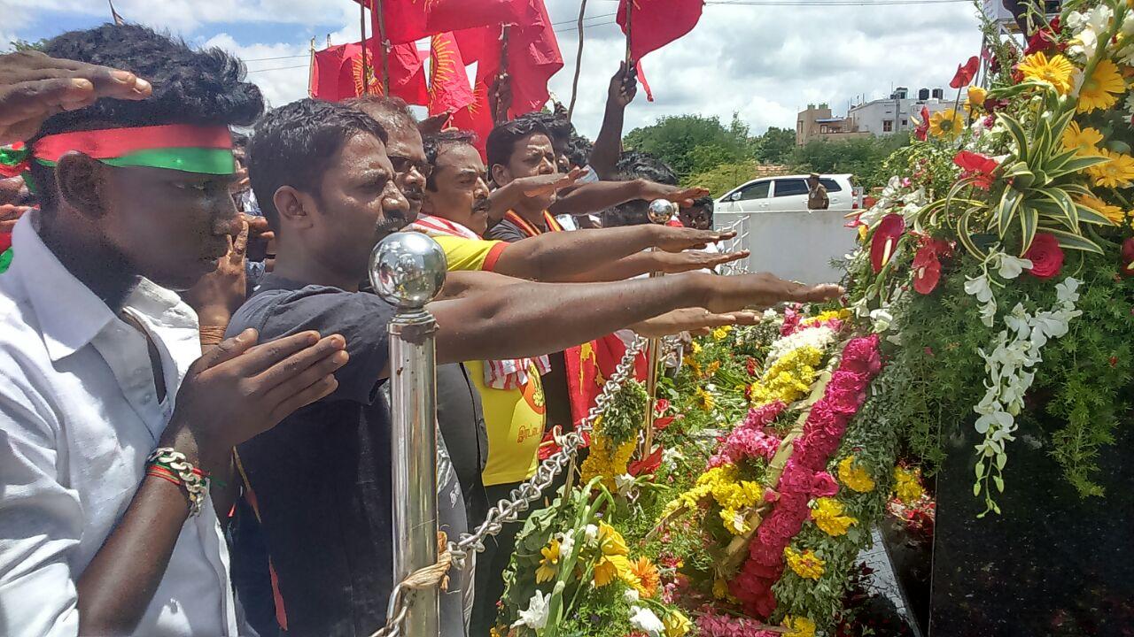 இம்மானுவேல் சேகரனார் 60வது நினைவுநாள் மலர்வணக்கம் – பரமக்குடி paramakudi naam tamilar katchi immanuvel sekaran ninaivunaal 3