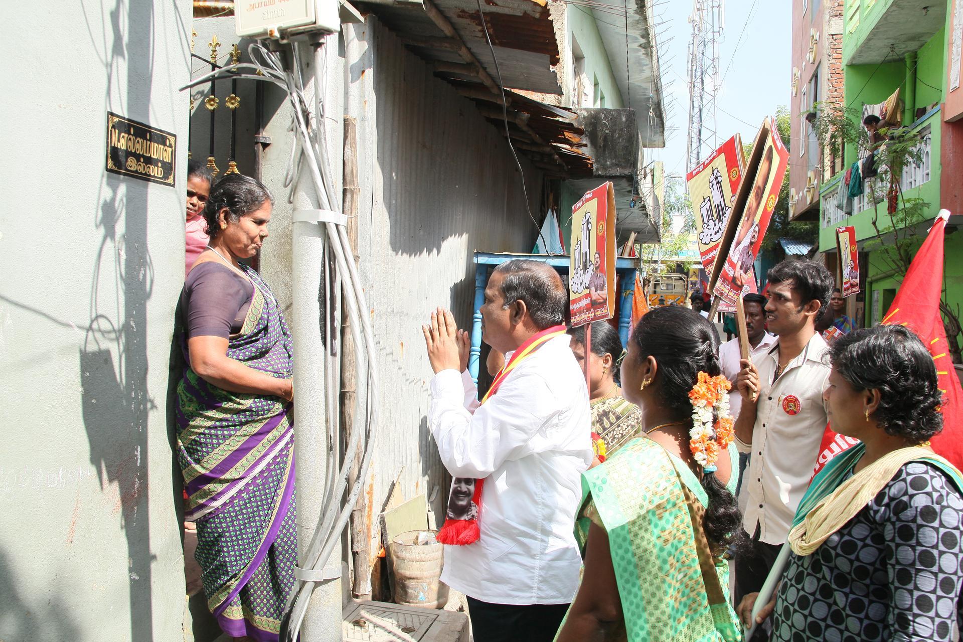 ஆர்.கே நகர் தேர்தல் பரப்புரை: நான்காம் நாள் | வாக்கு சேகரிப்பு மற்றும் தெருமுனைக்கூட்டம்