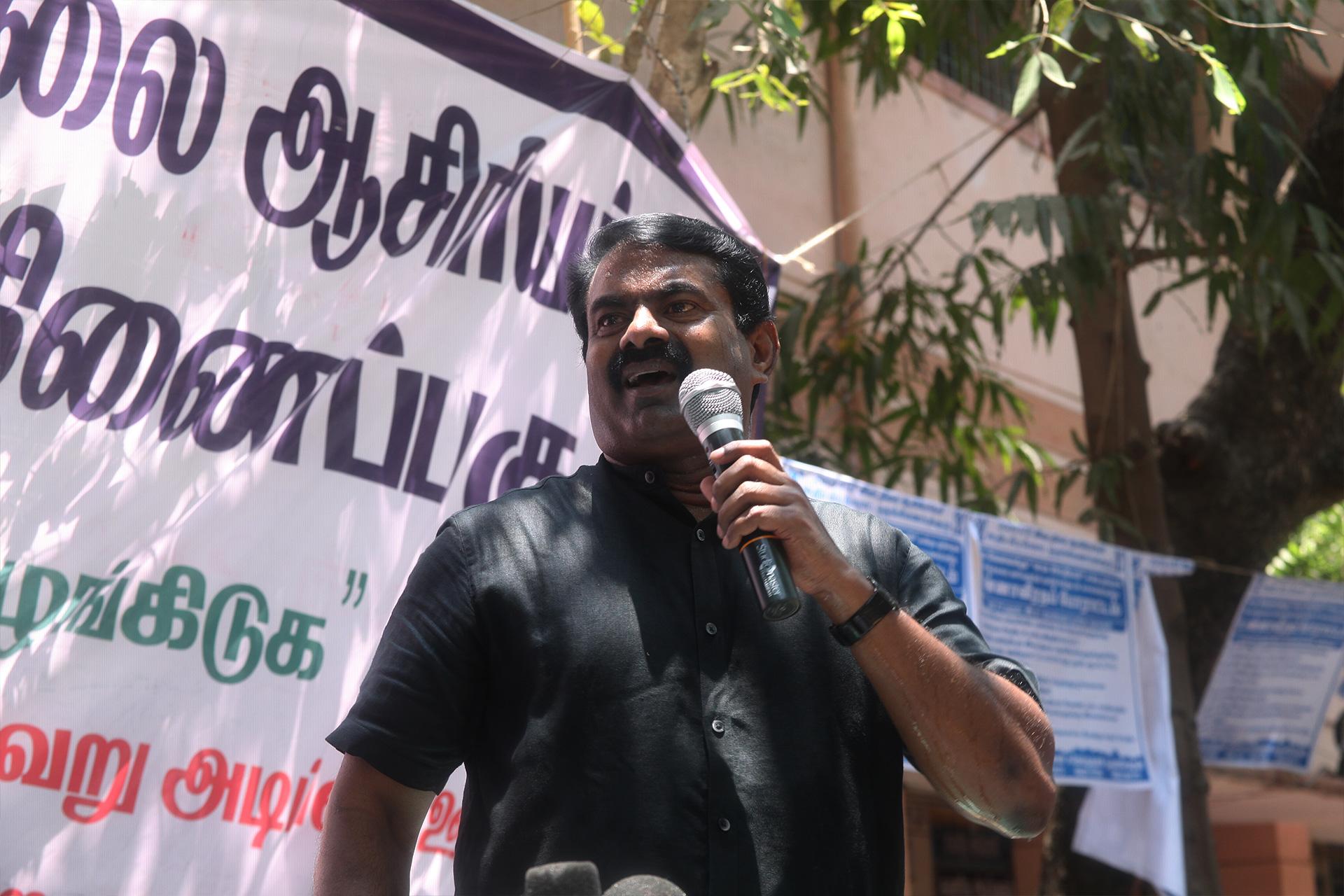 ஊதிய முரண்பாடுகளைக் களையக்கோரி இடைநிலை ஆசிரியர்கள் தொடர் போராட்டம் – சீமான் நேரில் ஆதரவு TET Secondary Teachers Protest Equal Pay For Equal Post Chennai Seeman Support 2