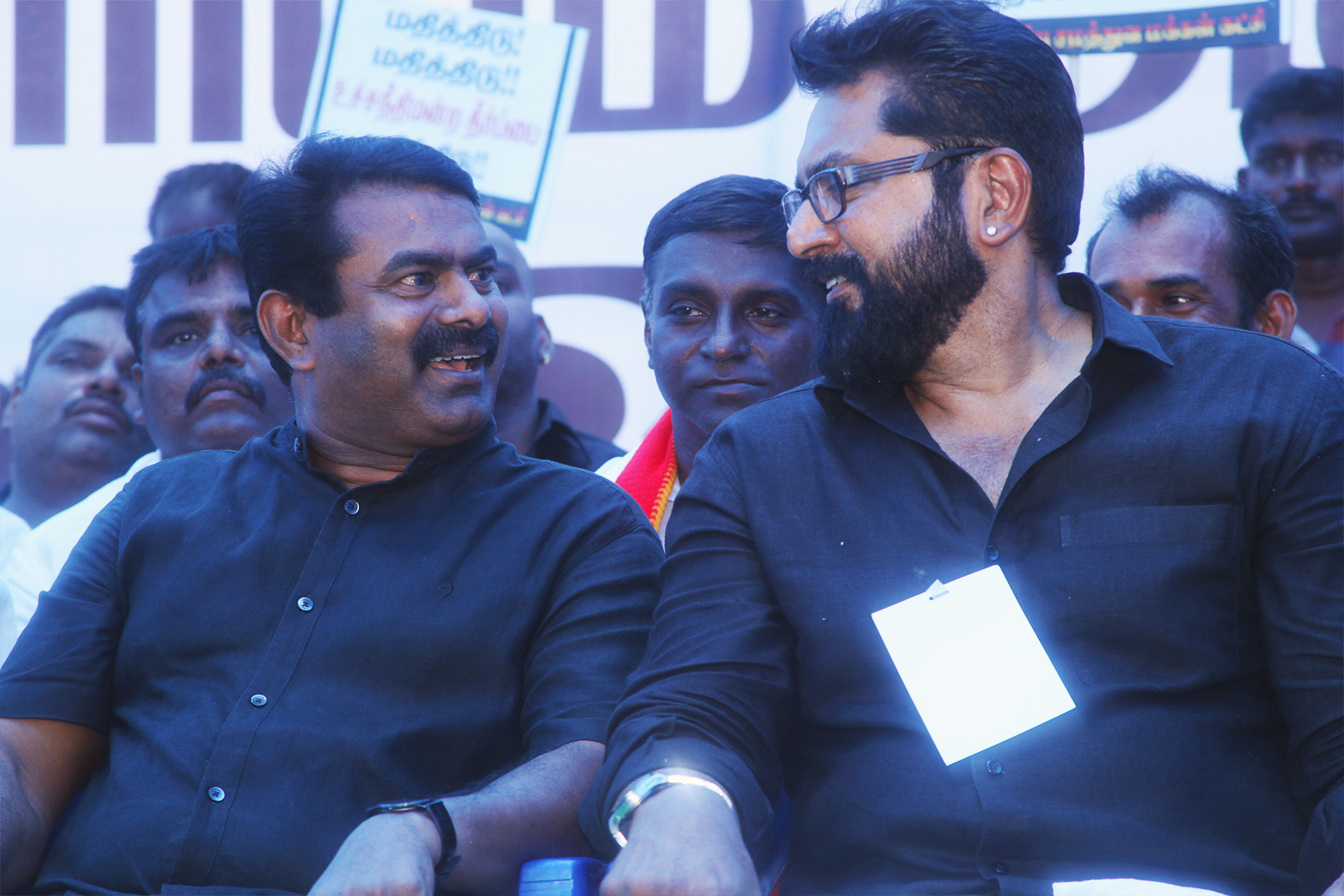 காவிரி மேலாண்மை அமைக்கக்கோரி சரத்குமார் போராட்டம் – சீமான் கண்டனவுரை naam tamilar katchi seeman speech sarathkumar protest thirumavalavan cauvery sterlite chennai 5