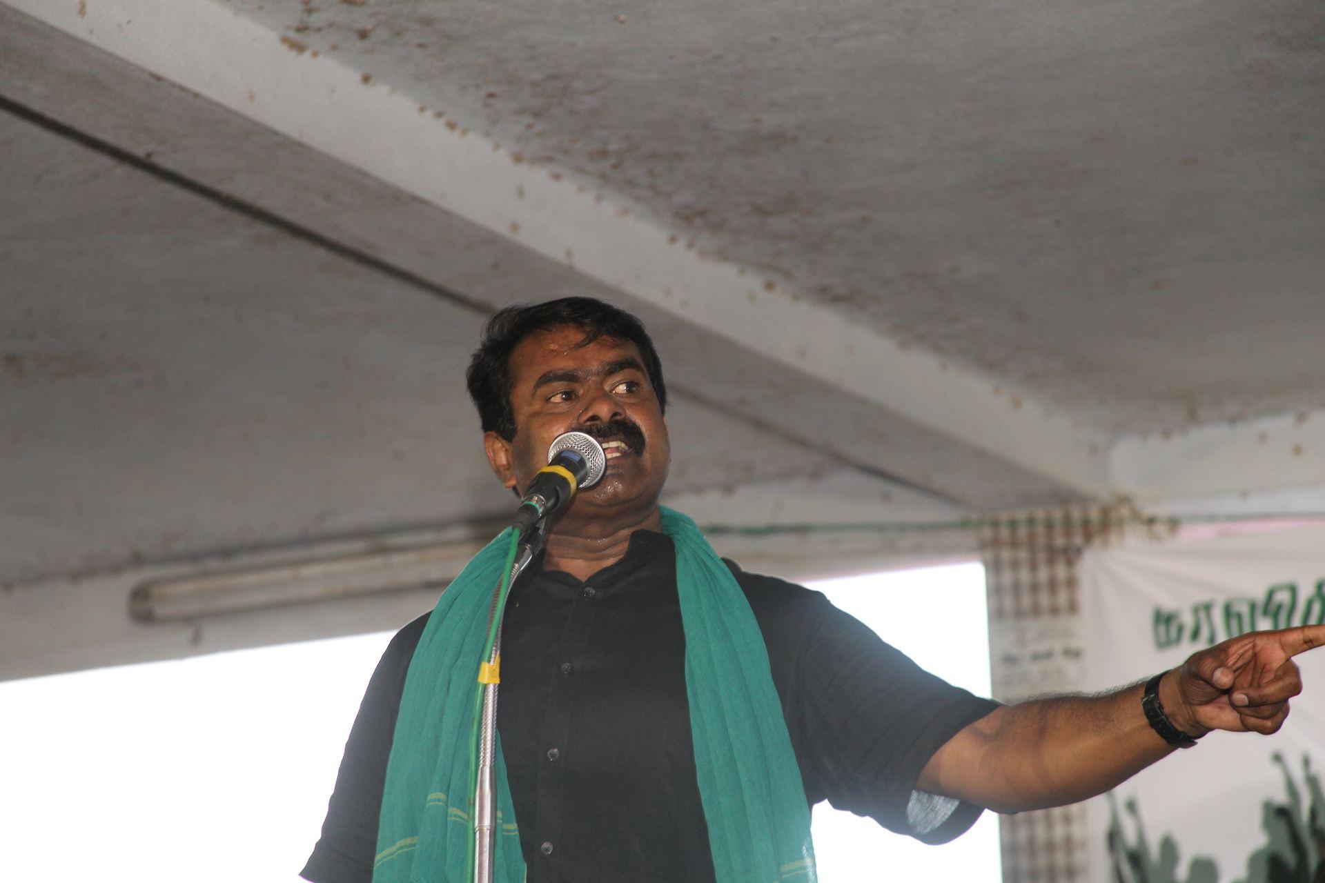 கல்லணையில் காவிரி உரிமை மீட்புக்கான உறுதியேற்பு ஒன்று கூடல்! – சீமான் எழுச்சியுரை naam tamilar katchi seeman speech thiruchy kallanai kaaviri urimai metpu ondru koodal bharathiraja ameer maniyarasan 51