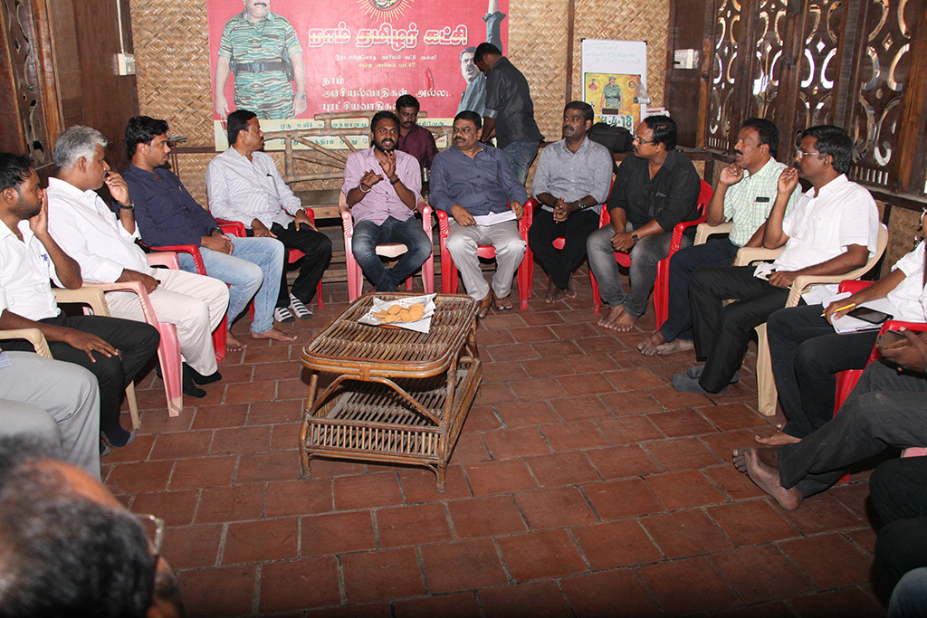 காவிரி உரிமை மீட்புப் போராட்டம்: பொய் வழக்குகளில் தொடர்ச்சியாக நாம் தமிழர் கட்சியினர் கைது – வழக்கறிஞர் பாசறை கலந்தாய்வு ntk advocates wing conference naam tamilar katchi cauvery protest chennai 1