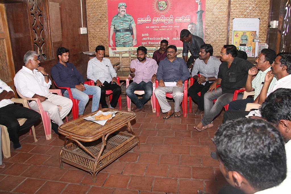காவிரி உரிமை மீட்புப் போராட்டம்: பொய் வழக்குகளில் தொடர்ச்சியாக நாம் தமிழர் கட்சியினர் கைது – வழக்கறிஞர் பாசறை கலந்தாய்வு ntk advocates wing conference naam tamilar katchi cauvery protest chennai 2