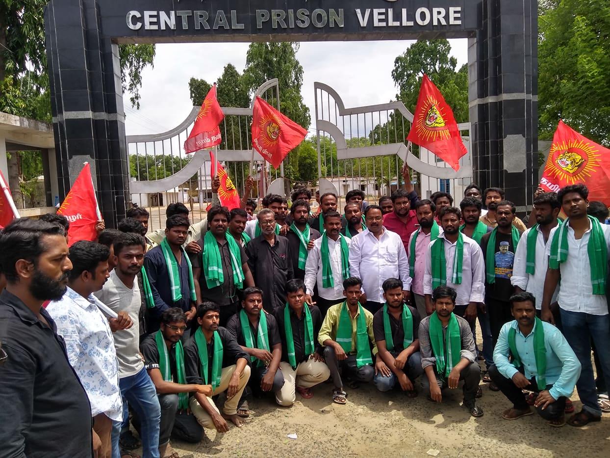 திருவண்ணாமலை மாவட்ட நாம் தமிழர் கட்சியினர் 27 பேர் விடுதலை – மனு கொடுக்கச் சென்ற வழக்கு thiruvannamalai naam tamilar katchi cadres 27 members released velur central jail 1