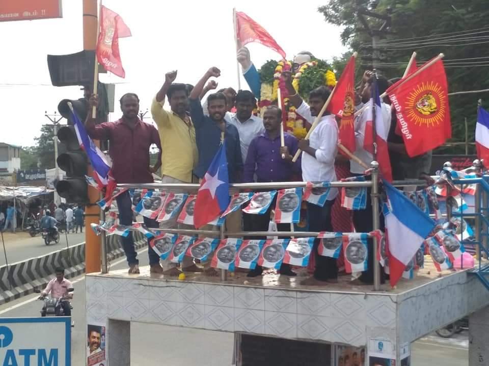அண்ணல் அம்பேத்கர் மலர்வணக்கம்-ஓமலூர்