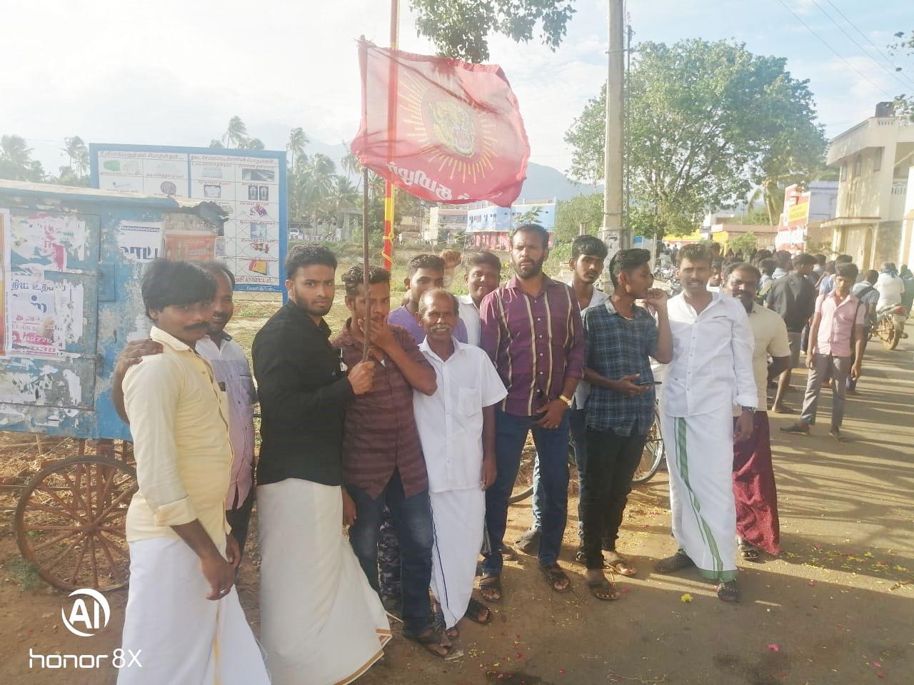 காமராசர் பிறந்த நாள் கொடியேற்றும் நிகழ்வு-கடையநல்லூர்