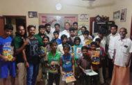காமராசர் பிறந்த நாள்-ஆதரவற்றோர் குழந்தைகளுக்கு உணவு வழங்குதல்
