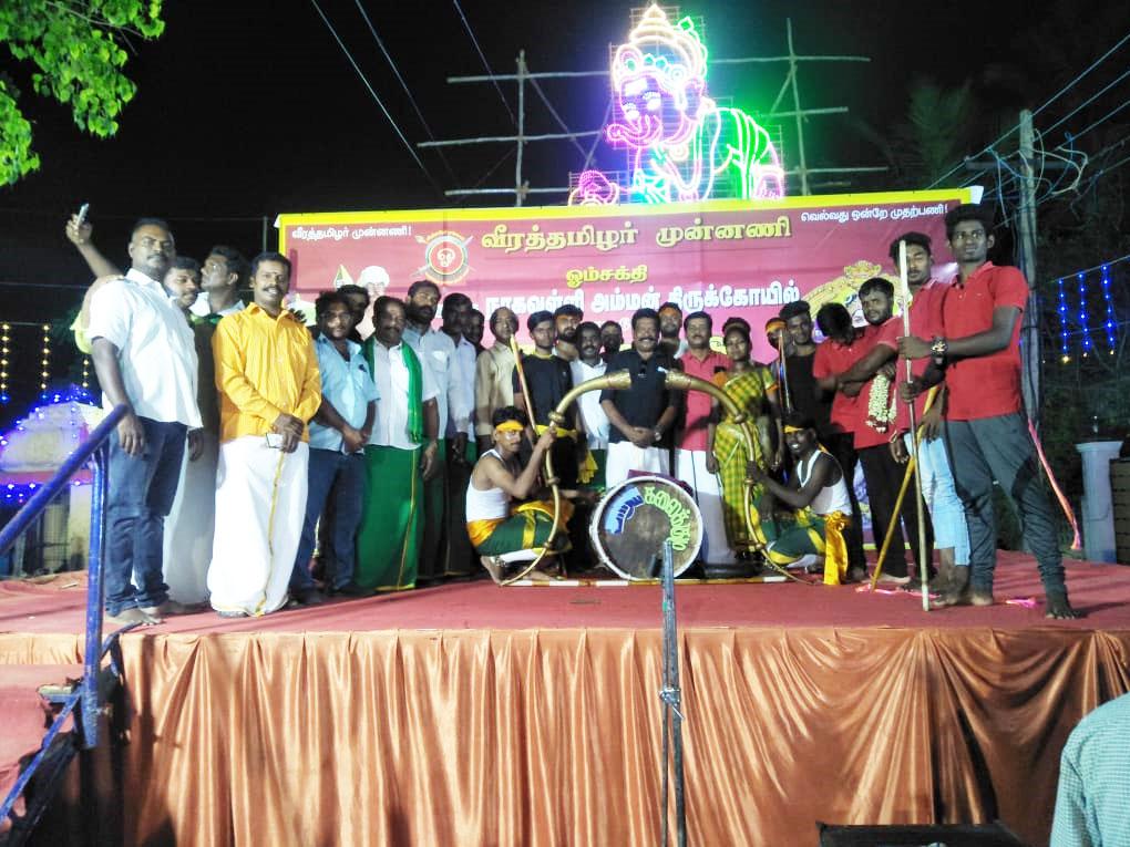 கோவில் திருவிழா-சிலம்பம் தற்காப்பு நிகழ்ச்சி-கொரட்டூர்/அம்பத்தூர்