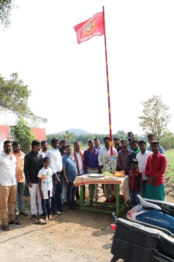 கொடியேற்றும் விழா-திருத்தணி சட்டமன்றத் தொகுதி