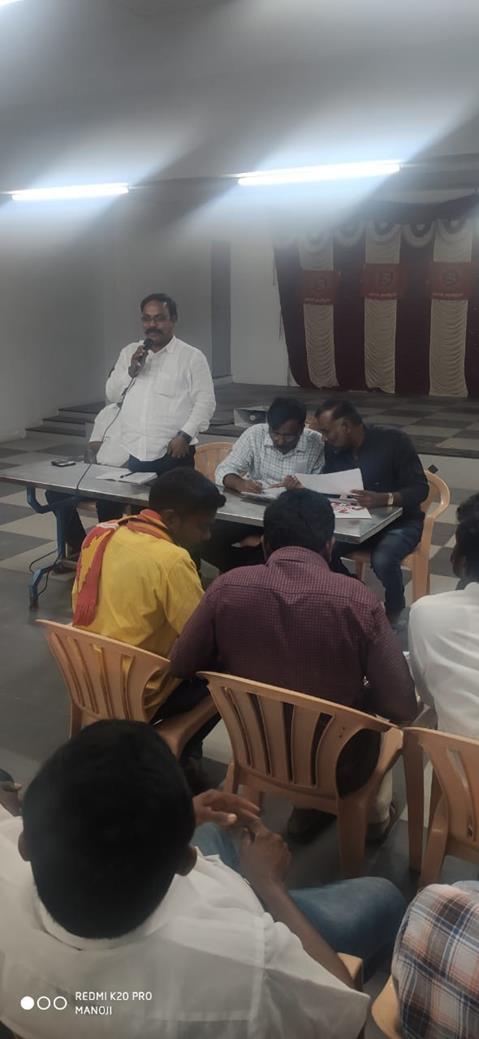 தலைமை கட்டமைப்பு குழு தலமையில் கலந்தாய்வு- பரமத்திவேலூர்