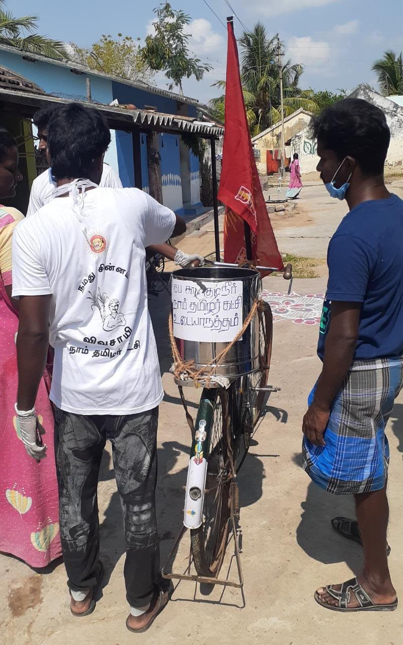 விக்கிரவாண்டி தொகுதி கிராமங்களில் கப சுர சூரண குடிநீர் வழங்குதல்