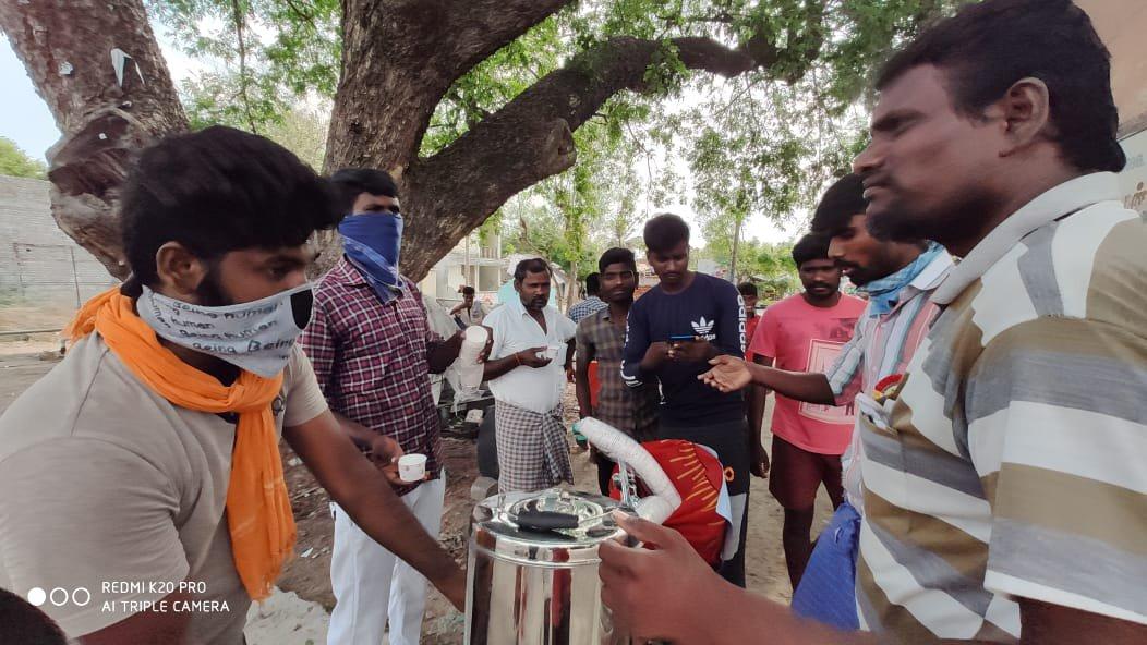 விக்கிரவாண்டி/கபசுரக் குடிநீர் பொதுமக்களுக்கு வழங்குதல்/