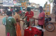 பொதுமக்களுக்கு கபசுர குடிநீர் வழங்குதல் -திருவெறும்பூர் தொகுதி