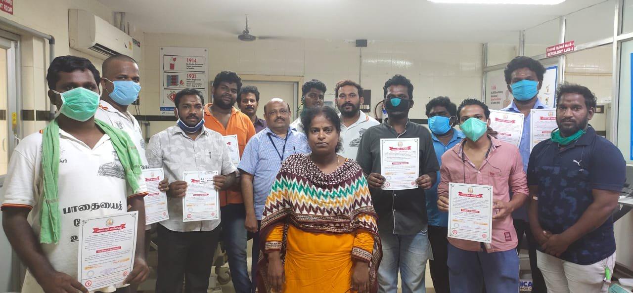 மே 18 இன எழுச்சி நாள் குருதி கொடை வழங்குதல்- பெரம்பூர் தொகுதி