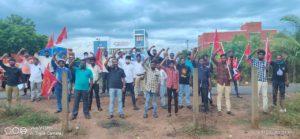 சாத்தான்குளத்தில் நடைபெற்ற இரட்டைக் படுகொலைக்கு நீதிக் கேட்டு நடந்த கண்டன ஆர்ப்பாட்டத்தில்-நெய்வேலி தொகுதி